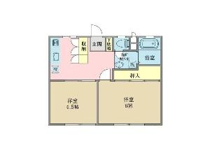 2棟一括売リアパート 船橋市薬円台1丁目 間取図