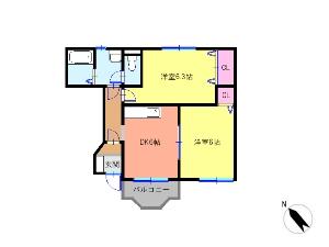 クレストール海神2番館 西船橋 賃貸アパート 間取図
