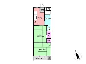 昭和コーポ宮本 船橋 賃貸マンション 間取図