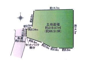 土地 船橋市本町4丁目 区画図