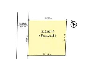 土地 船橋市湊町3丁目 区画図