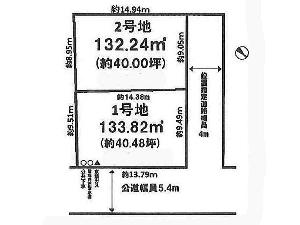 土地 船橋市三山7丁目 区画図