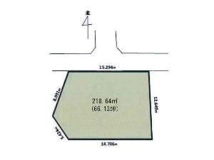 土地 船橋市飯山満町2丁目 区画図