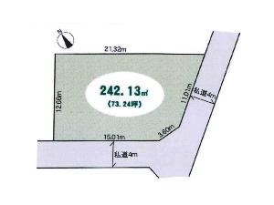 土地 船橋市三山9丁目 区画図
