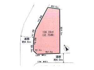 土地 船橋市松が丘2丁目 区画図