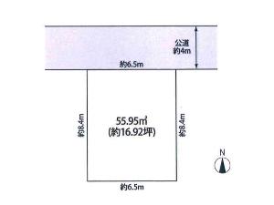 土地 船橋市本町6丁目 区画図