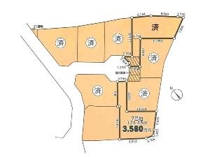 土地 船橋市西船1丁目 区画図