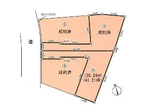 土地 船橋市東中山1丁目 区画図