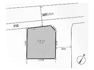 土地 船橋市松が丘5丁目 区画図