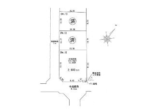 土地 船橋市三咲4丁目 区画図