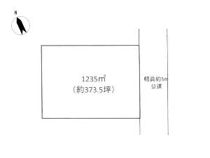 土地 船橋市藤原5丁目 区画図