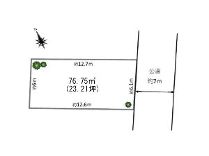 土地 船橋市夏見4丁目 区画図