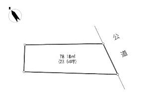 土地 船橋市高根台7丁目 区画図