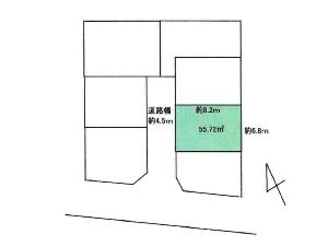 土地 船橋市田喜野井5丁目 区画図