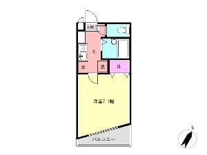 ミリアビタNo.7 船橋 賃貸マンション 間取図