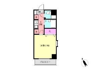 ミリアビタNo.13 船橋 賃貸マンション 間取図