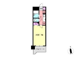 メゾンドエフ 船橋 賃貸マンション 間取図